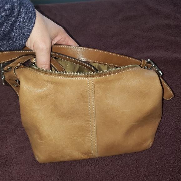 Tan Leather Coach Hobo Bag
